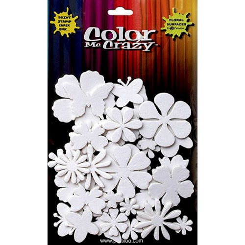 Petaloo - Color Me Crazy Collection - 3 Dimensional Foam Stickers - Flowers and Butterflies