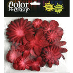 Petaloo - Color Me Crazy Collection - Mulberry Paper Flowers - Burgundy