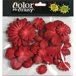 Petaloo - Color Me Crazy Collection - Mulberry Paper Flowers - Red
