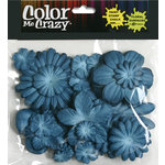 Petaloo - Color Me Crazy Collection - Mulberry Paper Flowers - Deep Blue, CLEARANCE