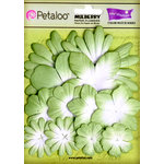 Petaloo - Color Me Crazy Collection - Core Matched Mulberry Paper Flowers - Mantis Green