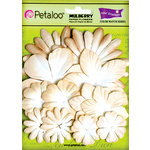 Petaloo - Color Me Crazy Collection - Core Matched Mulberry Paper Flowers - Vanilla Cream