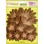 Petaloo - Flora Doodles Collection - Layering Mulberry Flowers - French Roast