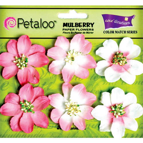 Petaloo - Flora Doodles Collection - Mulberry Flowers - Camelia - In the Pink