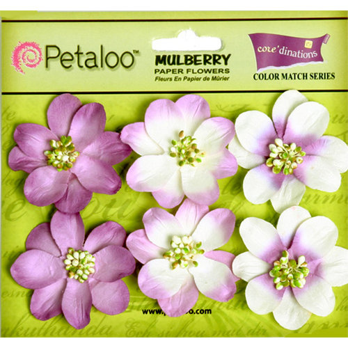Petaloo - Flora Doodles Collection - Mulberry Flowers - Camelia - Pansy Purple