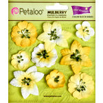 Petaloo - Flora Doodles Collection - Mulberry Flowers - Mini Floral - Tulip Yellow