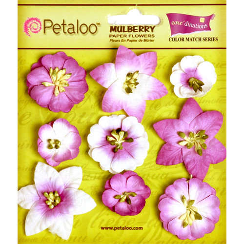 Petaloo - Flora Doodles Collection - Mulberry Flowers - Mini Floral - Pansy Purple