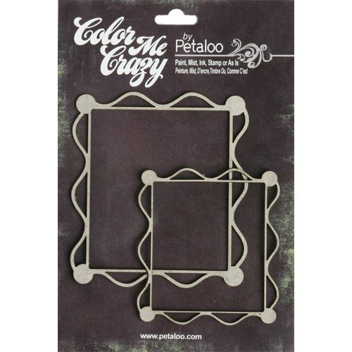 Petaloo - Color Me Crazy Collection - Chipboard Pieces - Deco Frames