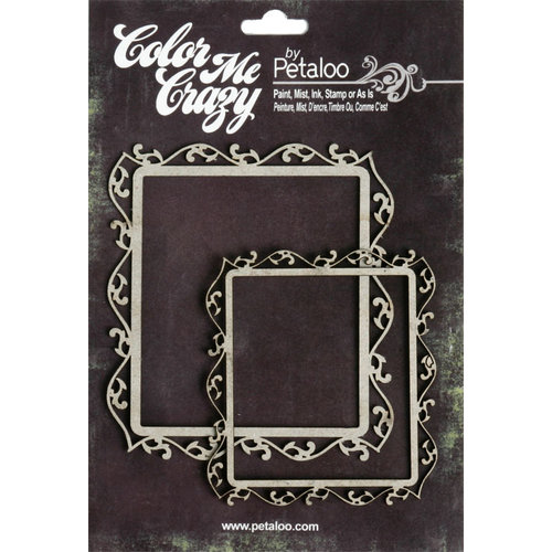Petaloo - Color Me Crazy Collection - Chipboard Pieces - Fancy Frames
