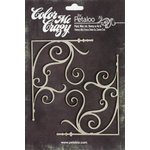 Petaloo - Color Me Crazy Collection - Chipboard Pieces - Fancy Corners Small