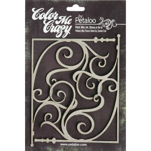 Petaloo - Color Me Crazy Collection - Chipboard Pieces - Fancy Corners Large