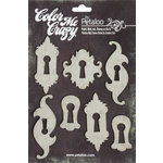 Petaloo - Color Me Crazy Collection - Chipboard Pieces - Keyholes