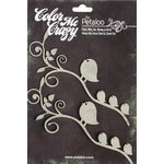 Petaloo - Color Me Crazy Collection - Chipboard Pieces - Birds on Branch