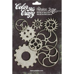 Petaloo - Color Me Crazy Collection - Chipboard Pieces - Gears