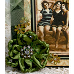 Petaloo - Estate Collection - Knotted Ribbon Flower - Green