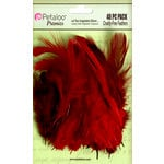 Petaloo - Expressions Collection - Feathers - Red and Burgundy