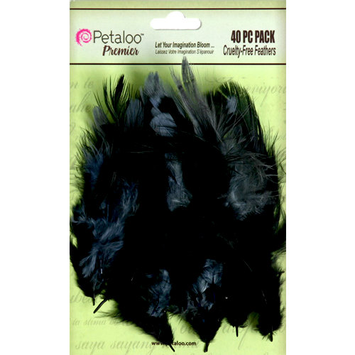 Petaloo - Expressions Collection - Feathers - Black and Grey