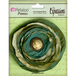 Petaloo - Expressions Collection - Bohemian Silk Flower - Vintage Green