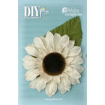 Petaloo - DIY Paintables Collection - Floral Embellishments - Burlap Giant Sunflower - Ivory