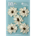 Petaloo - DIY Paintables Collection - Floral Embellishments - Burlap Wild Sunflowers - Ivory
