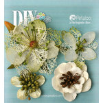 Petaloo - DIY Paintables Collection - Floral Embellishments - Mixed Textured Blossoms - Ivory