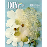 Petaloo - DIY Paintables Collection - Floral Embellishments - Mixed Textured Layers - Ivory