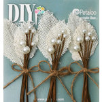 Petaloo - DIY Paintables Collection - Floral Embellishments - Burlap Picks - Ivory