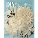 Petaloo - DIY Paintables Collection - Floral Embellishments - Daisy Flower Layers - Ivory