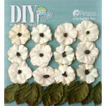 Petaloo - DIY Paintables Collection - Floral Embellishments - Petites - Teastained Cream