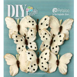 Petaloo - DIY Paintables Collection - Floral Embellishments - Butterflies - Teastained Cream