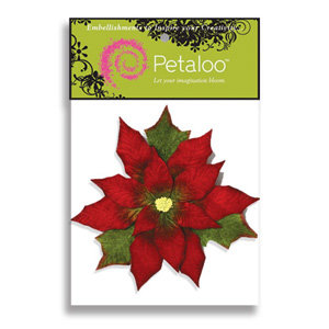 Petaloo - Holiday Collection - Flowers - Pointsettia Peel and Stick - Large - Red, CLEARANCE