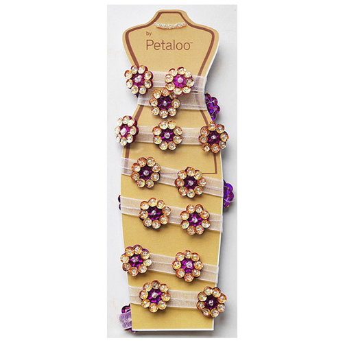 Petaloo - Jeweled Flower Garland - Purple - 2 Feet