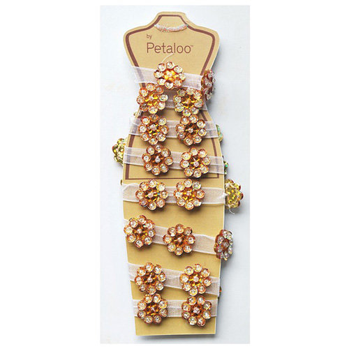 Petaloo - Jeweled Flower Garland - Topaz - 2 Feet