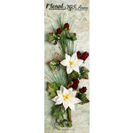Petaloo - Canterbury Collection - Poinsettia and Berries Branch - White
