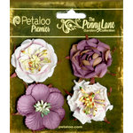 Petaloo - Penny Lane Collection - Floral Embellishments - Ruffled Roses - Plum