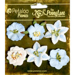 Petaloo - Penny Lane Collection - Floral Embellishments - Small Flower - Slate Blue