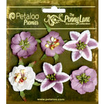 Petaloo - Penny Lane Collection - Floral Embellishments - Small Flower - Plum