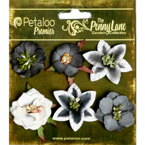 Petaloo - Penny Lane Collection - Floral Embellishments - Small Flower - Silhouette