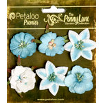 Petaloo - Penny Lane Collection - Floral Embellishments - Small Flower - Teal