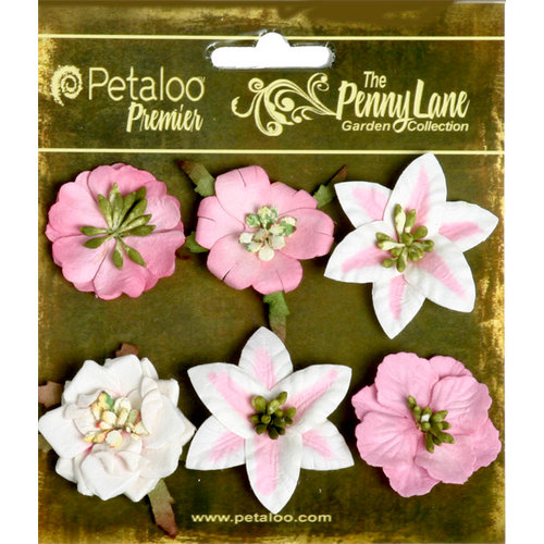 Petaloo - Penny Lane Collection - Floral Embellishments - Small Flower - Pink