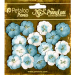 Petaloo - Penny Lane Collection - Floral Embellishments - Forget Me Nots - Teal