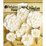 Petaloo - Penny Lane Collection - Floral Embellishments - Mixed Blossoms - White