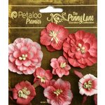 Petaloo - Penny Lane Collection - Floral Embellishments - Mixed Blossoms - Antique Red