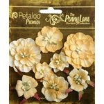 Petaloo - Penny Lane Collection - Floral Embellishments - Mixed Blossoms - Antique Gold