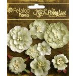 Petaloo - Penny Lane Collection - Floral Embellishments - Mixed Blossoms - Antique Green