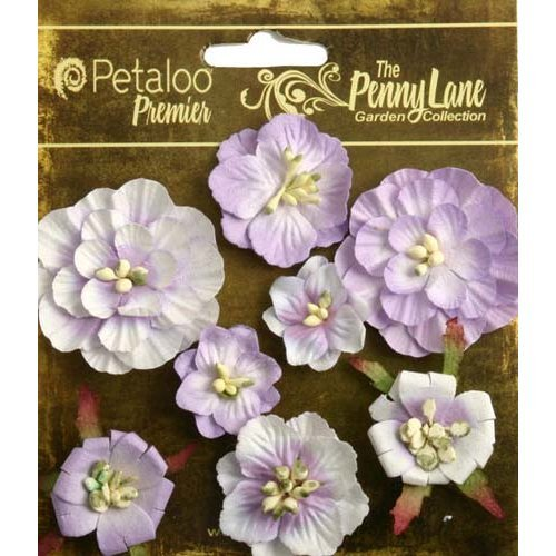 Petaloo - Penny Lane Collection - Floral Embellishments - Mixed Blossoms - Soft Lavender