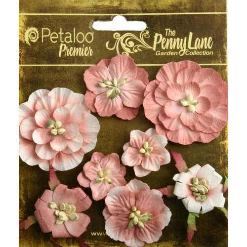 Petaloo - Penny Lane Collection - Floral Embellishments - Mixed Blossoms - Antique Rose