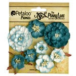 Petaloo - Penny Lane Collection - Floral Embellishments - Mixed Blossoms - Teal