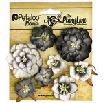 Petaloo - Penny Lane Collection - Floral Embellishments - Mixed Blossoms - Black