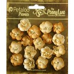 Petaloo - Penny Lane Collection - Floral Embellishments - Forget Me Nots - Antique Gold